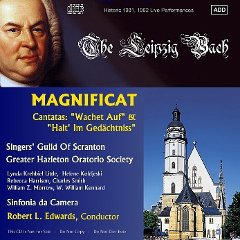 Bach Magnificat CD cover